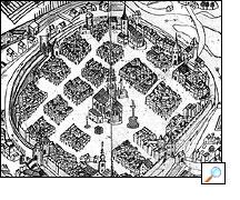 1773 - Pohled na město znadhledu