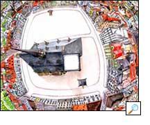 Kruhový výhled zkatedrály sv. Bartoloměje